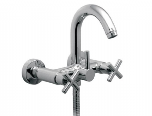 Vado (ELW-123-C/P), Elements Water, Wall Mounted Bath Shower Mixer In Chrome